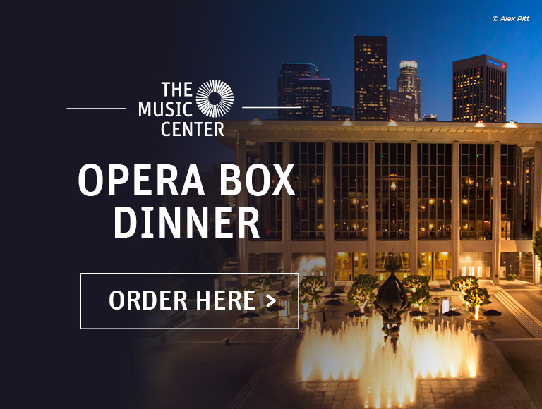 Opera Box Dinner at The Music Center