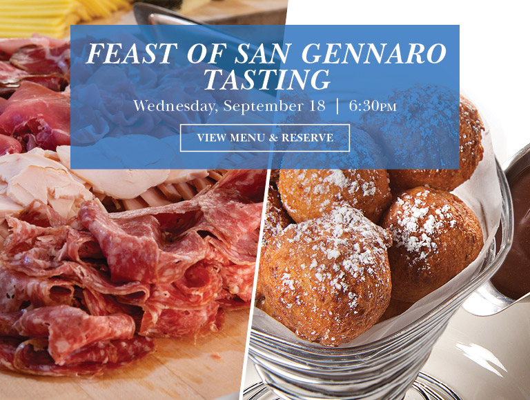 View Menu & Reserve | Feast of San Gennaro Tasting at Naples 45 in NYC | Wednesday, September 18 at 6:30PM