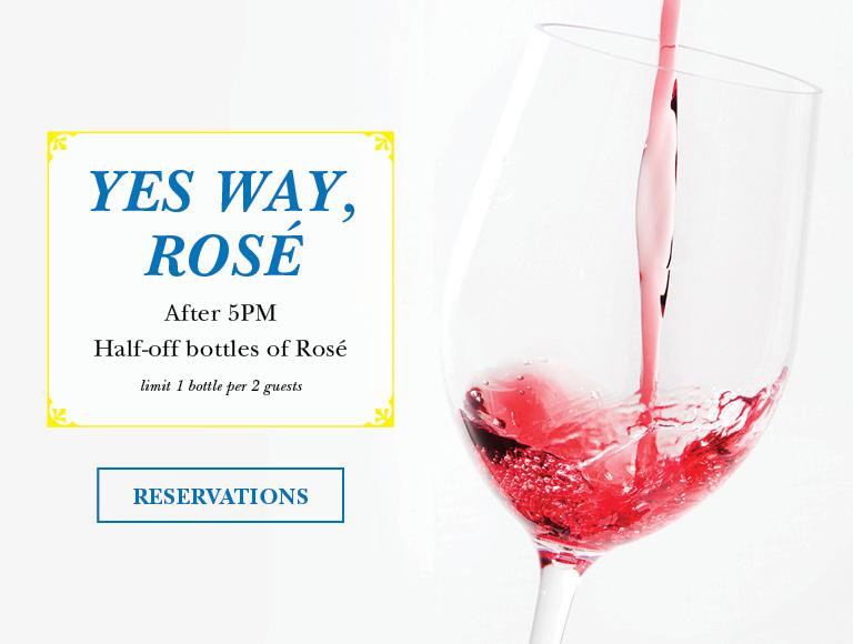 Half-off bottles of Rose