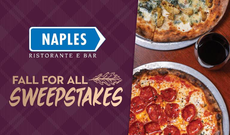 Win a dinner for four at Naples Ristorante e Bar
