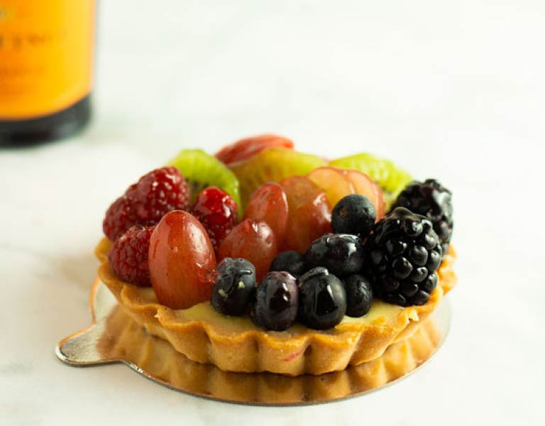 Fruit tart, fresh Italian desserts