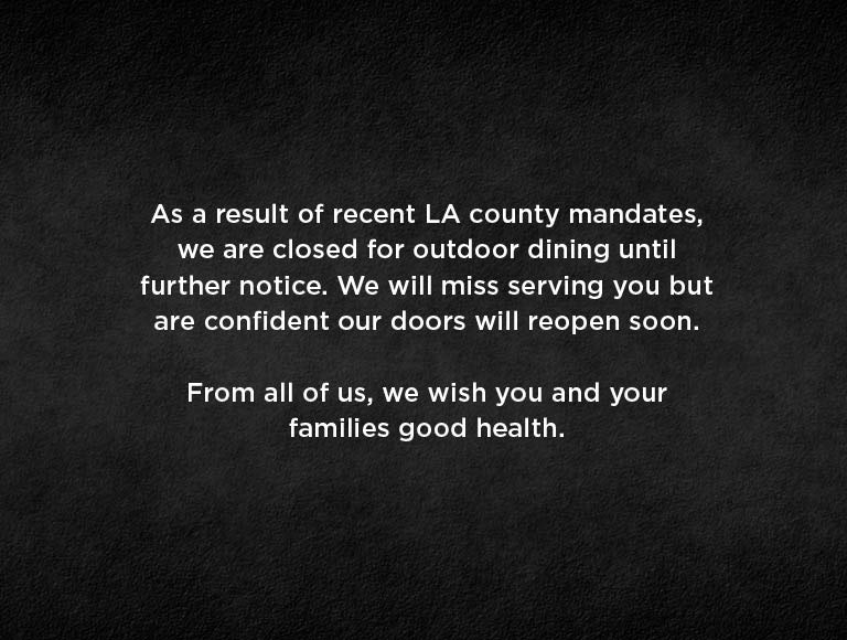 Nick + Stefs LA is temporarily closed