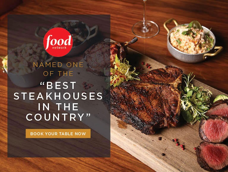 Named one of the best steakhouses in the country by Food Network | Nick + Stef's LA