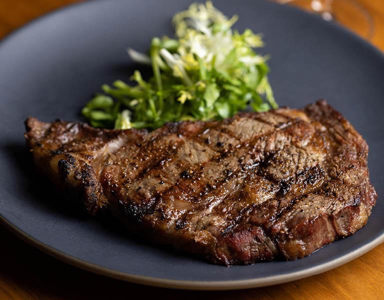 Delicious steak at Nick + Stef's LA