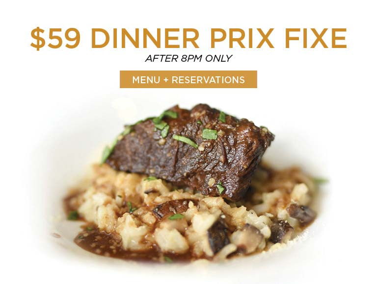 View menu & reserve for Nick + Stef's $59 Prix Fixe Dinner, MSG Restaurant, NYC