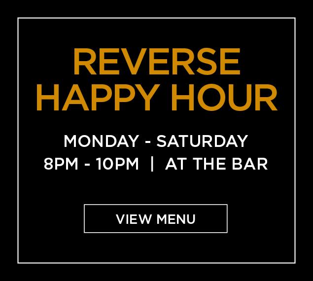 Reverse Happy Hour