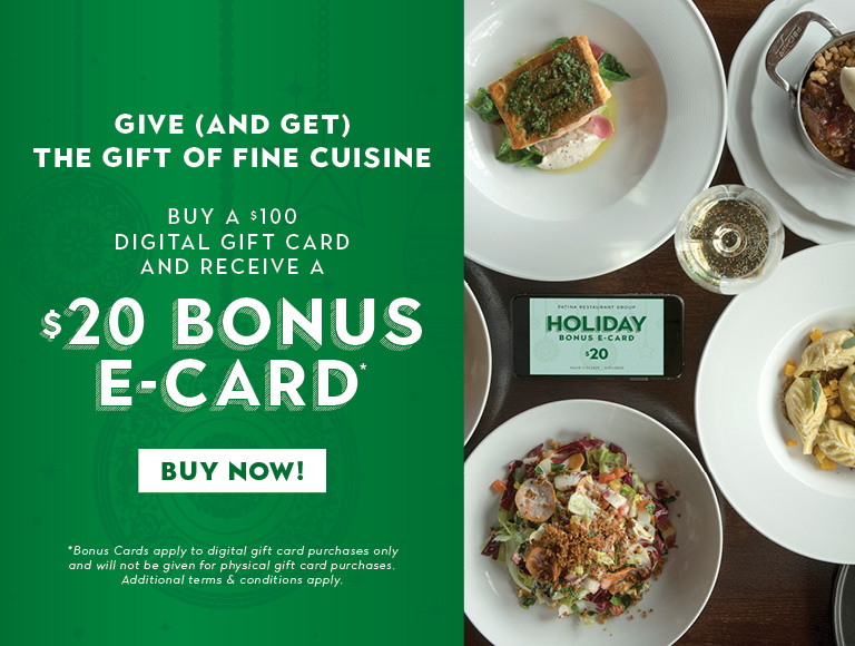Receive a $20 bonus card when you buy a $100 gift card   Buy Your Holiday Cards Now
