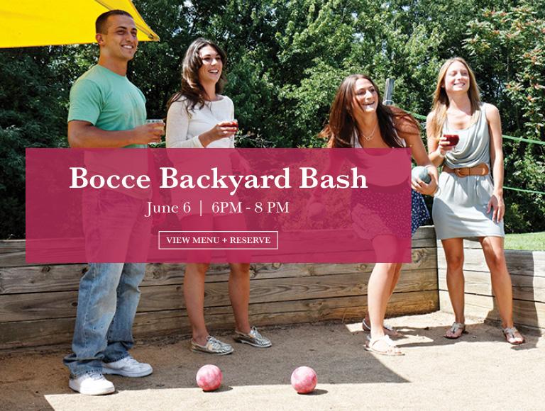 View Menu & Reserve | Bocce Backyard Bash | May 30, 6PM - 8 PM