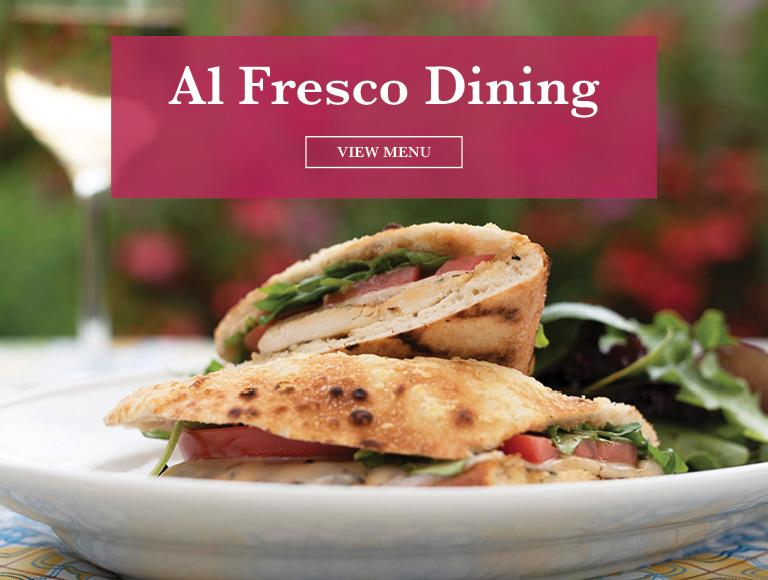 View Menu | Al Fresco Dining at Panevino Ristorante