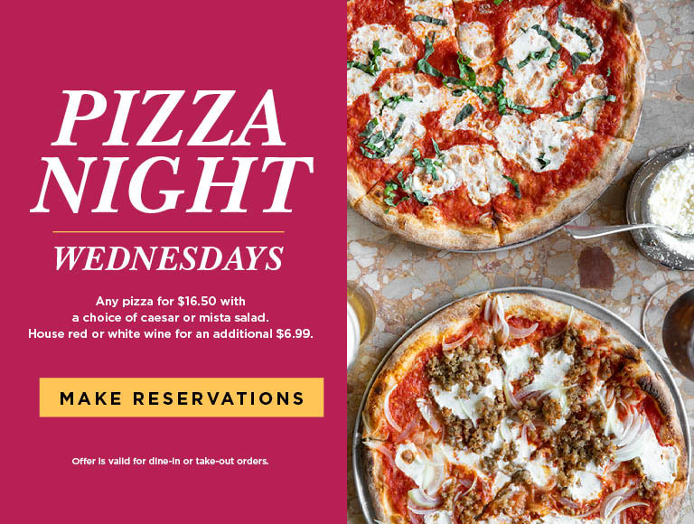 Pizza Night is Wednesdays at Panevino