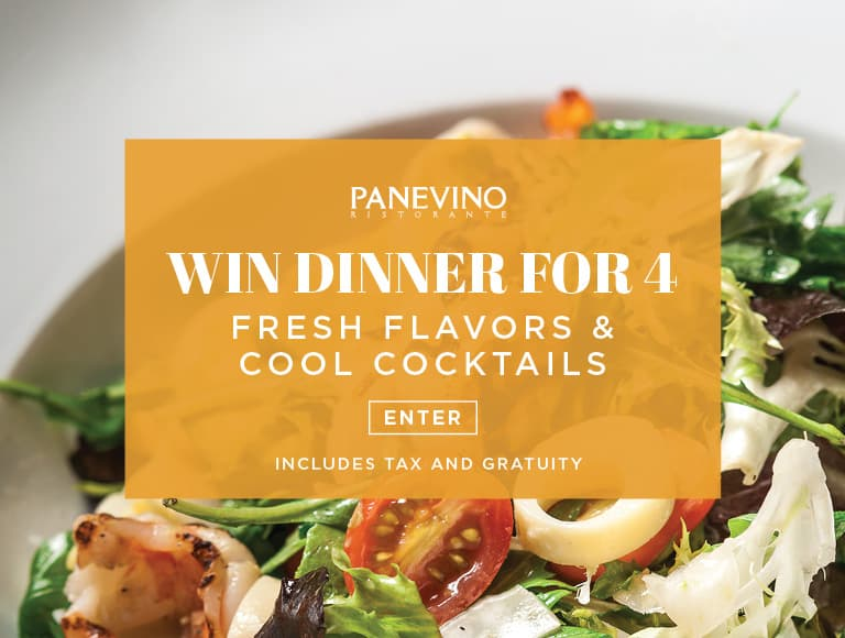 Win a dinner for four to Panevino Ristorante