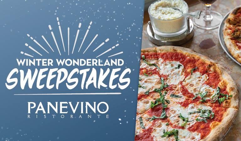 Enter the Winter Wonderland Sweepstakes at Panevino Ristorante