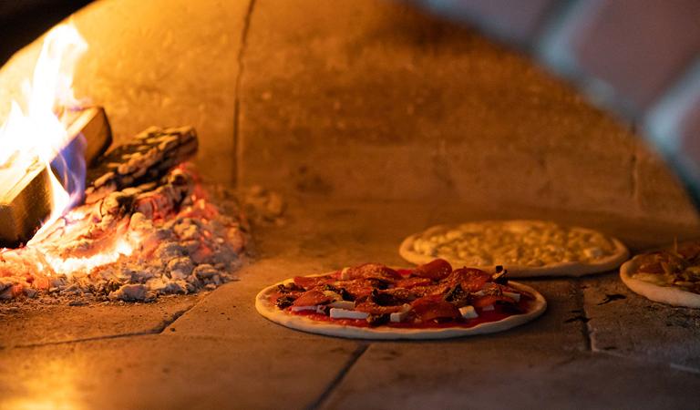 brick oven pizzas