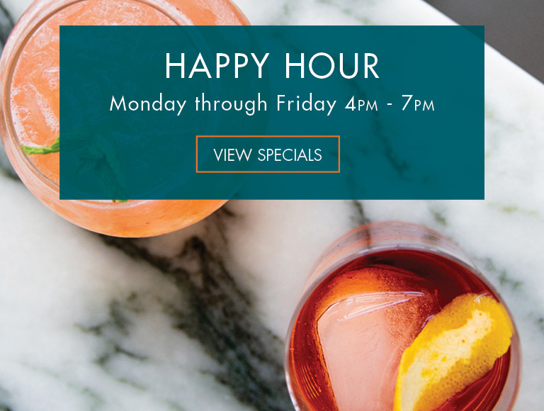 View Specials | Happy Hour at Patina 250 in downtown Buffalo | Monday-Friday, 4PM-7PM