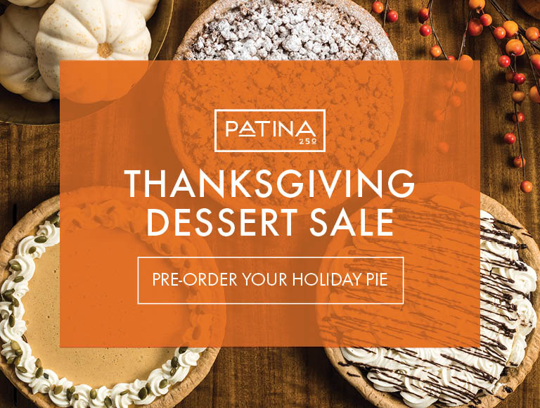 Pre-Order Your Holiday Pie   Patina 250 Thanksgiving Dessert Sale