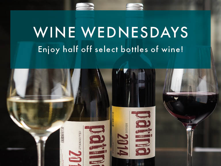 Wine Wednesdays at downtown Buffalo's Patina 250 | Enjoy half off select bottles of wine