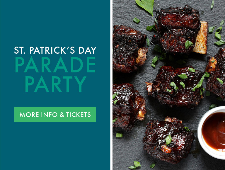 More Info & Tickets   St. Patrick's Day Parade Party at Patina 250 in downtown Buffalo, NY