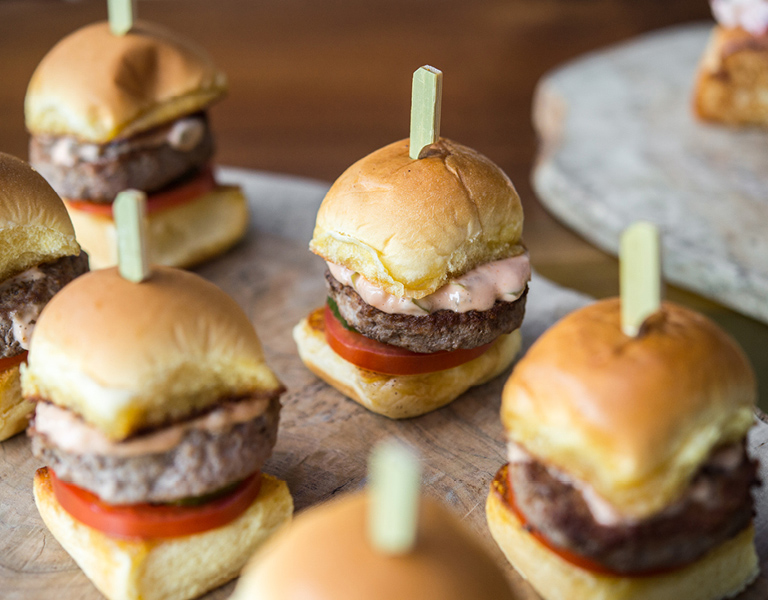 Sliders served at Patina 250 in downtown Buffalo, NY