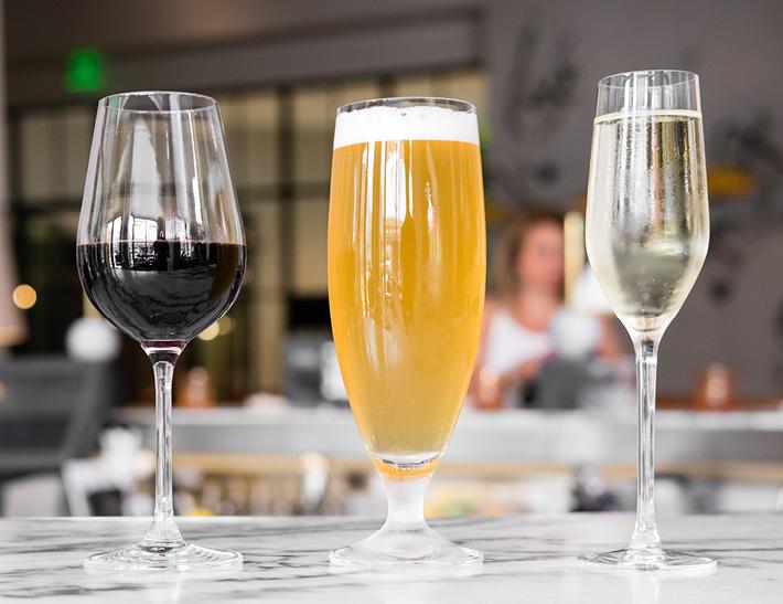 Drinks on a bar | Downtown Buffalo, NY Dining