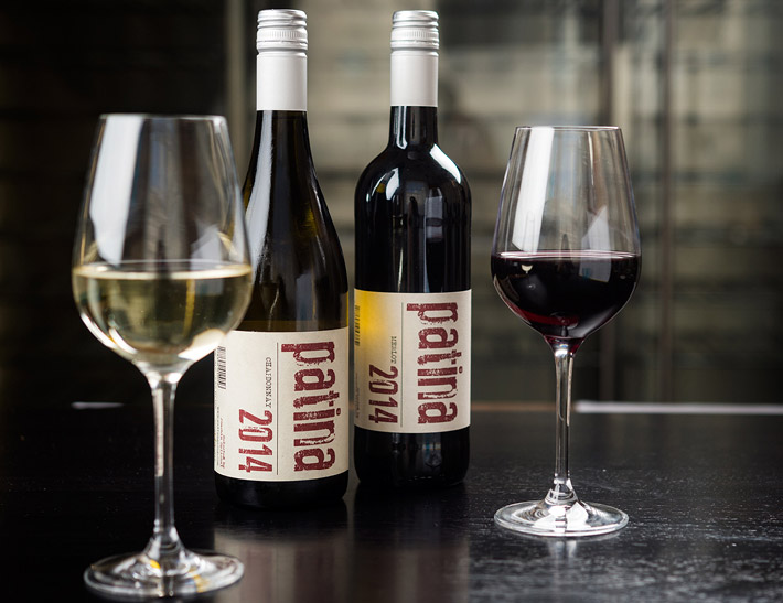 Bottles of wine served at Patina 250 in downtown Buffalo