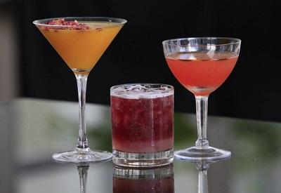 Cocktails at Patina 250 Courtyard Patio