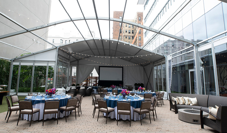 Private events in the courtyard at Patina 250, 250 Delaware Ave Buffalo ny