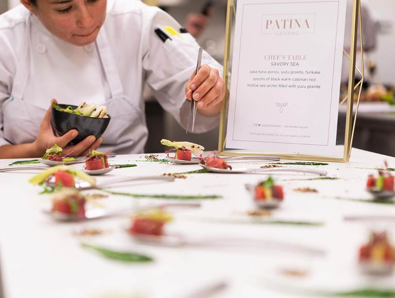Chef Plating Food | Patina Catering