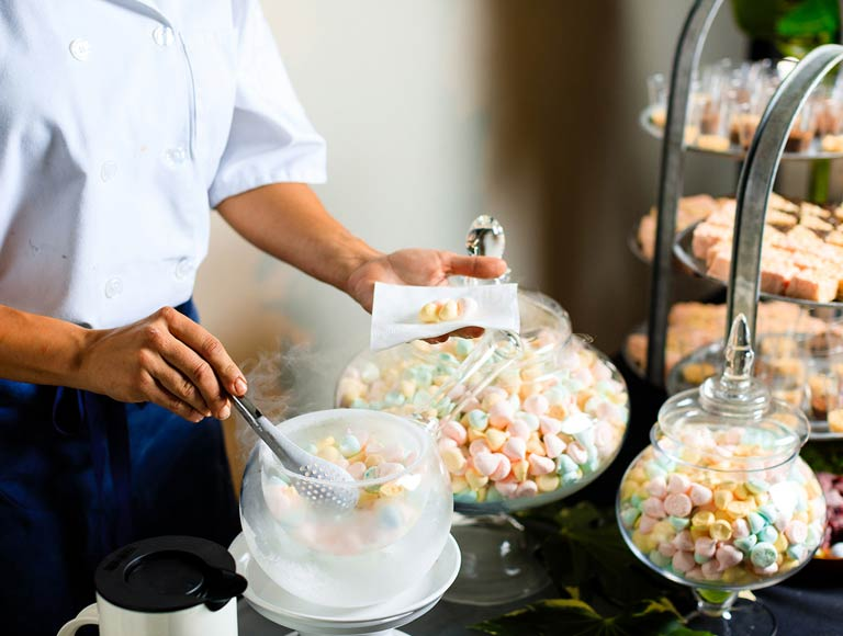 Catering Server with Desserts | Catering Services in Los Angeles, CA