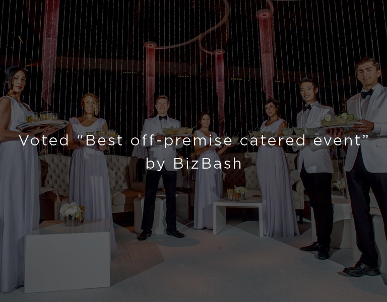 voted best off premise catered event by bizbash