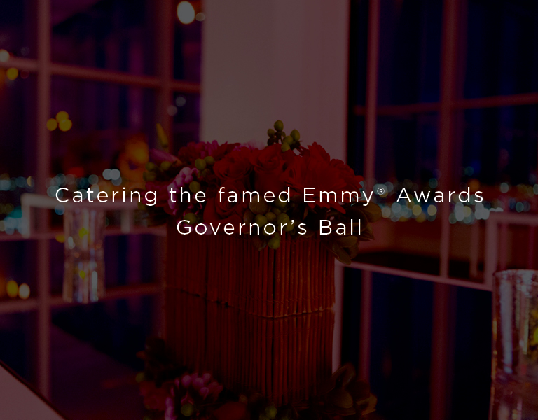 catering the famed Emy Awards governor's ball