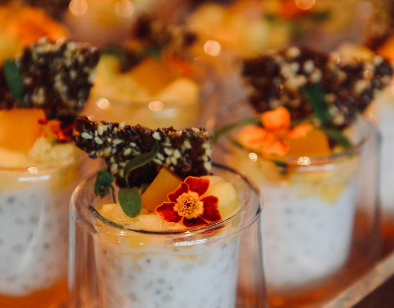 Chia seed pudding with fruit