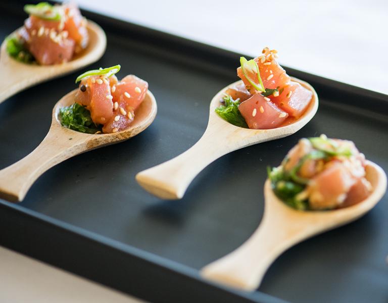 Mini tuna poke tastings
