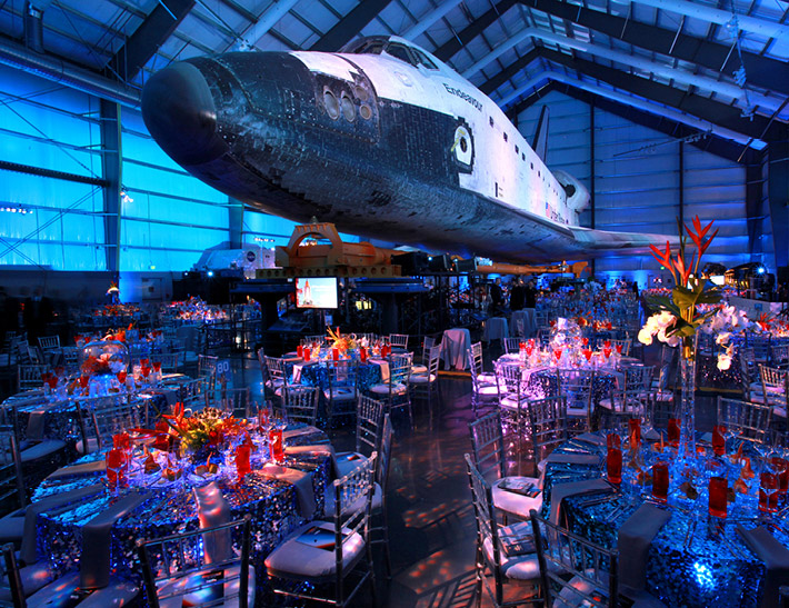 Private event space inside the California Science Center in Los Angeles, CA