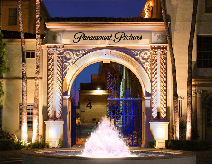 Paramount Pictures exterior in Hollywood, CA
