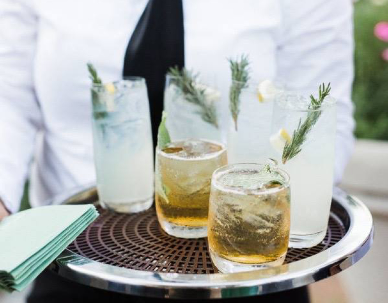 cocktails being served