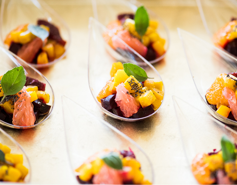 Beet, grapefruit and pineapple salad