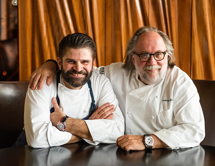 Patina Restaurant Executive Chef Andreas Roller and Patina Restaurant Group Chef and Founder Joachim Splichal