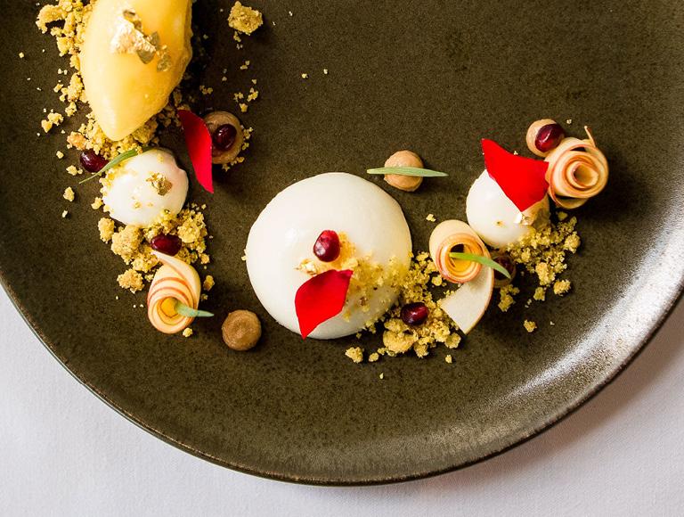 Mont Blanc dessert served at downtown LA's Patina Restaurant