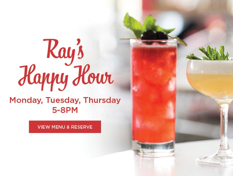 View Menu for Ray's Happy Hour, Mondays, Tuesdays & Thursdays