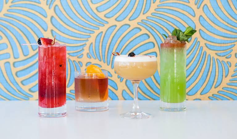 Cocktails served at Ray's and Stark Bar at the Los Angeles County Museum of Art