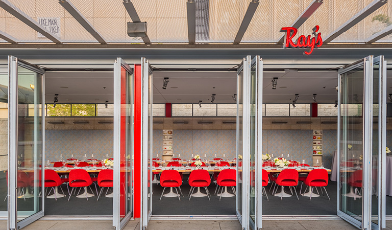 Private event space for a corporate event at Ray's and Stark Bar at LACMA