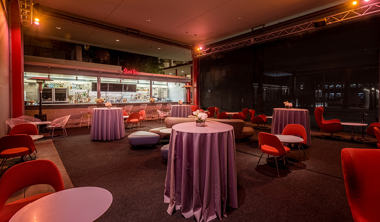 Happy Hour event space at Ray's and Stark Bar at LACMA
