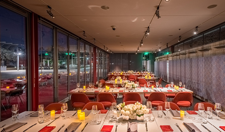 Private event space inside Ray's and Stark Bar at the Los Angeles County Museum of Art
