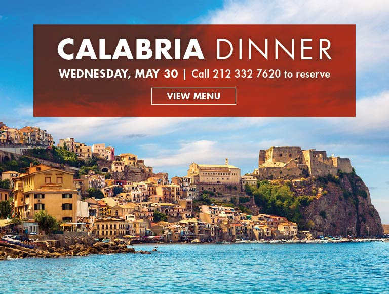 Calabria Dinner, Rockefeller Center, NYC