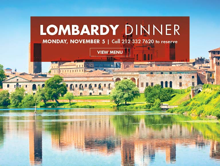 View Menu for Lombardy Dinner, Monday, November 5 | Rockefeller Center Restaurant