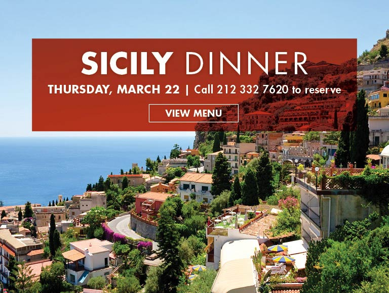View Menu for Sicily Dinner