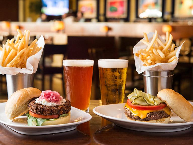 Burger served at Rock Center Cafe in Rockefeller Center