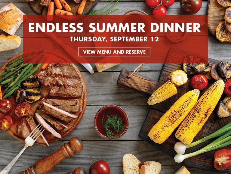View Menu and Reserve | Endless Summer Dinner on Thursday, September 12 at Rock Center Cafe