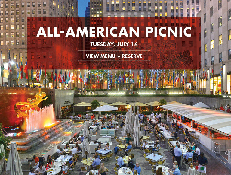 View Menu & Reserve   All-American Picnic on Tuesday, July 16 at Rock Center Café