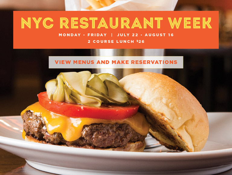 View menus and reserve for NYC Summer Restaurant Week | Monday-Friday, July 22-August 16